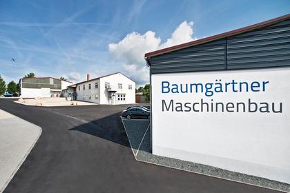 Zentrale der Baumgärtner Maschinenbau im Donau-Ries: Werks- und Verwaltungsgebäude