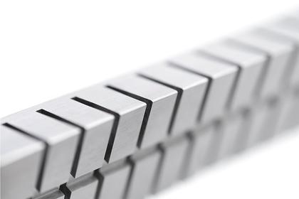 Detail eines Streifenmesserträgers aus AlMg4,5Mn