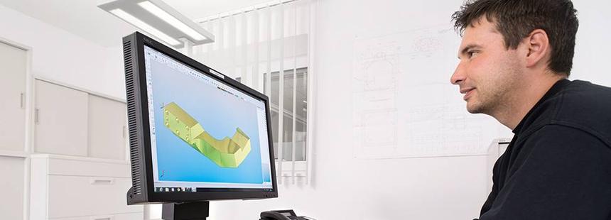 CAD/CAM Programmierplatz: Optimierung eines komplexen Alubauteiles