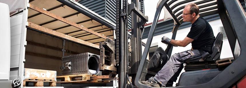Logistik bei Baumgärtner Maschinenbau: Eigener Fuhrpark