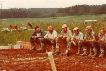 Bau der 2. Produktionshalle, 1972