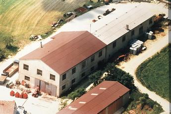 Die Werkshallen von Baumgärtner Maschinenbau im Jahr 1974